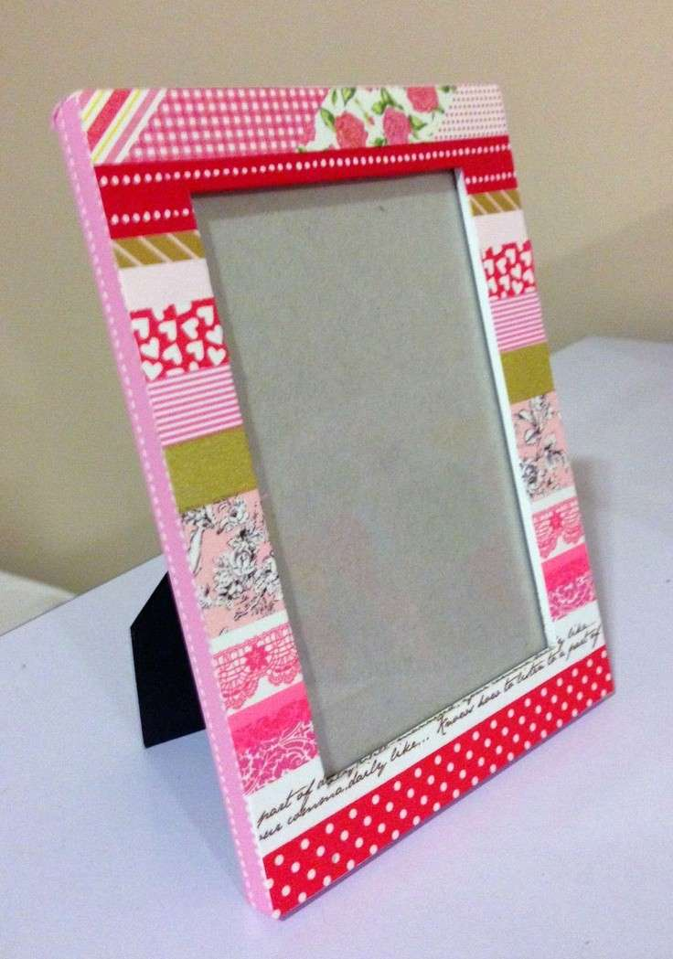Cornice decorata con washi tape