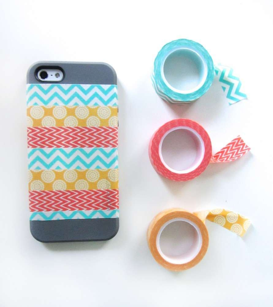 Cover fai da te con washi tape