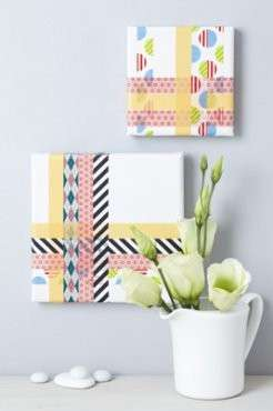 Quadri su tela washi tape