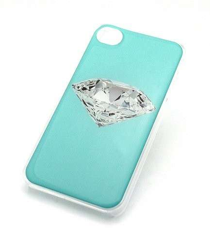 Cover verde Tiffany con diamante