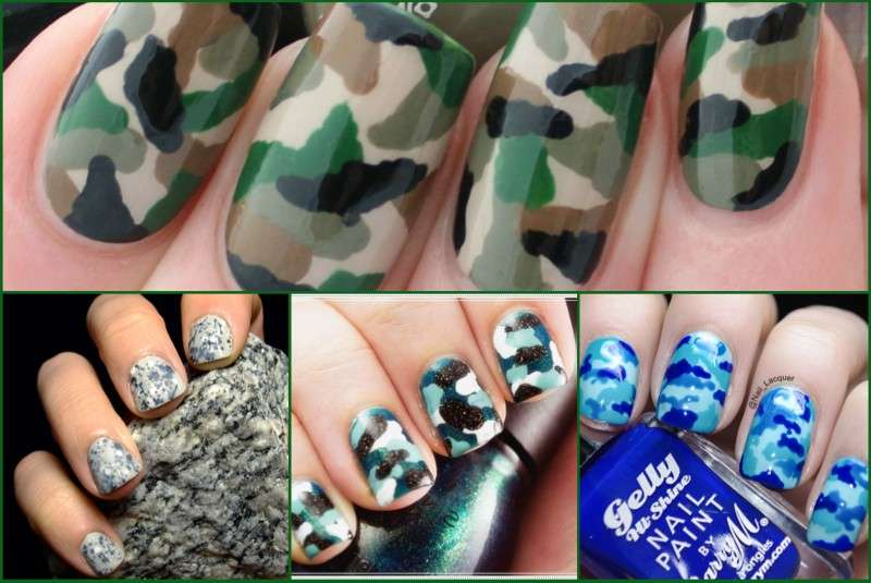 Nail art camouflage
