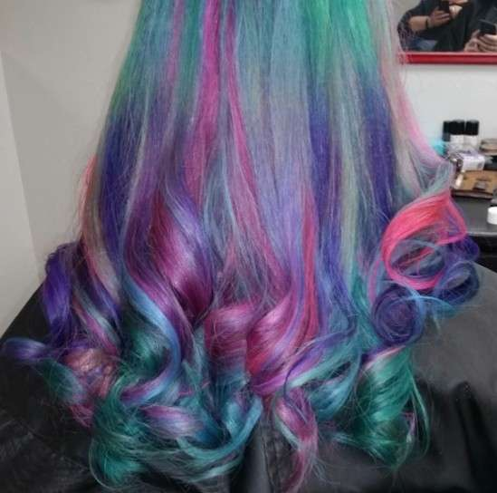 Galaxy hair con boccoli