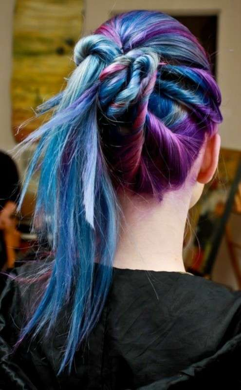 Galaxy hair raccolti