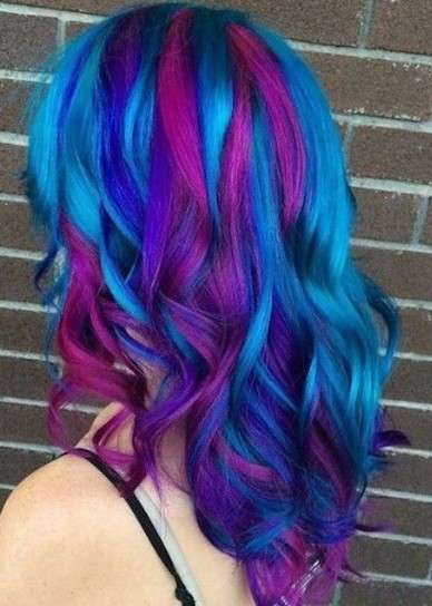 Galaxy hair con onde