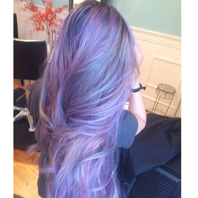 Pastel Galaxy Hairstyle