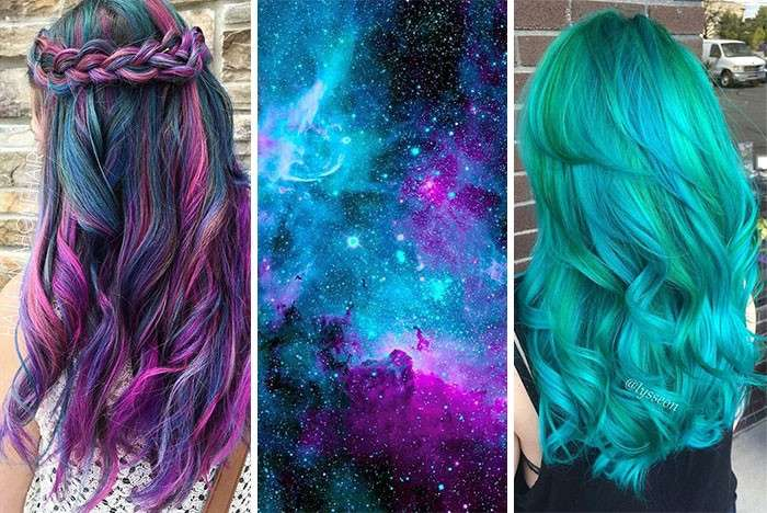 Look con galaxy hair