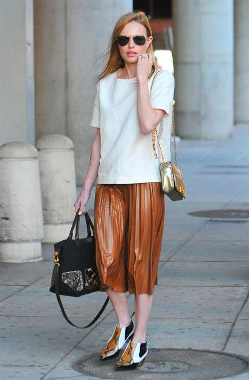 Kate Bosworth con la gonna a pieghe