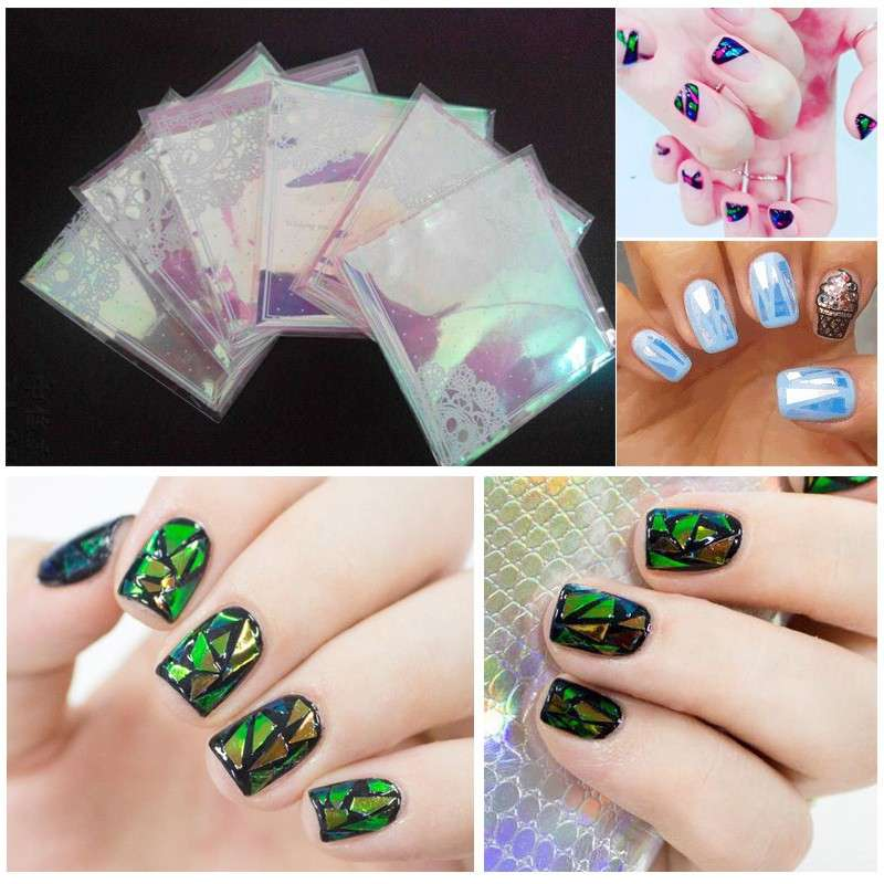 La glass nail art da fare con il cellophane