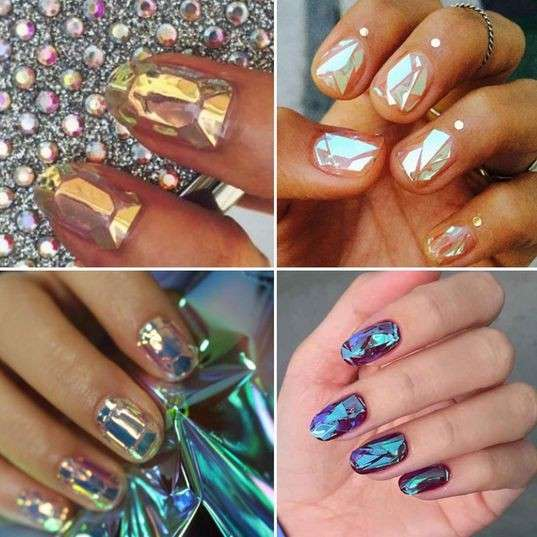 La glass nail art