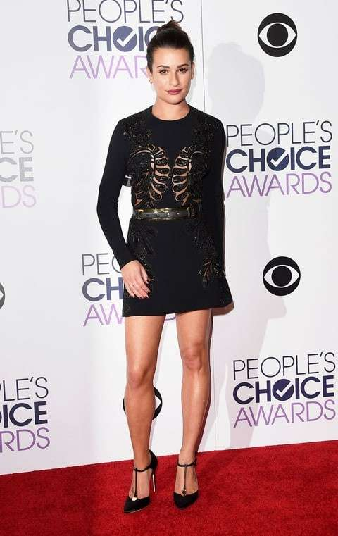 PCA 2016 red carpet - Lea Michele
