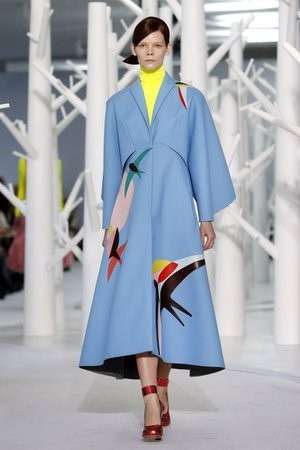 Cappotto Blue Serenity in passerella