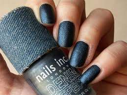 Denim nail art blu scuro