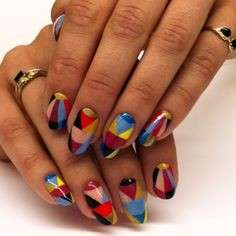 Nail art multicolor di Jessica Washick