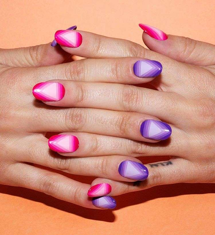 Nail art triangolare di Alicia Torello