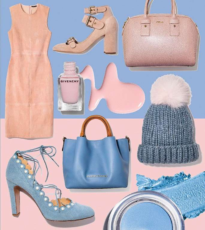 Accessori moda Rose Quartz e Blue Serenity