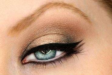 Smokey eyes marrone e oro