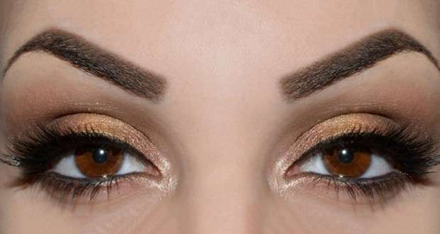 Smokey eyes marrone e bronzo