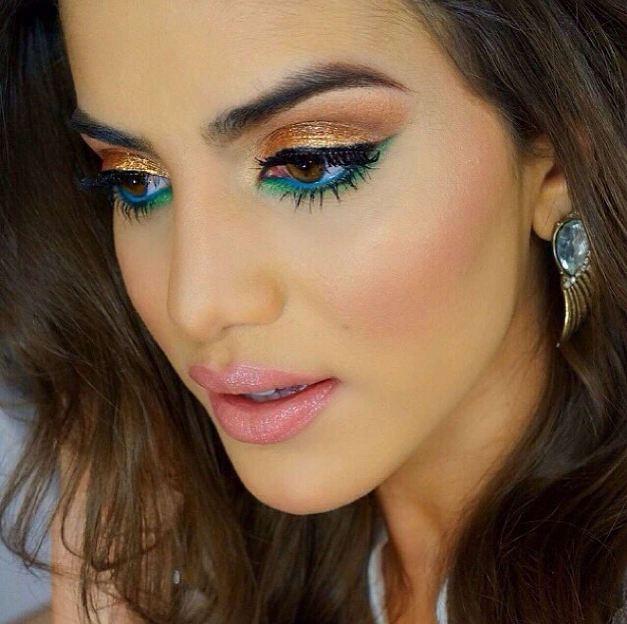 Smokey eyes marrone e verde