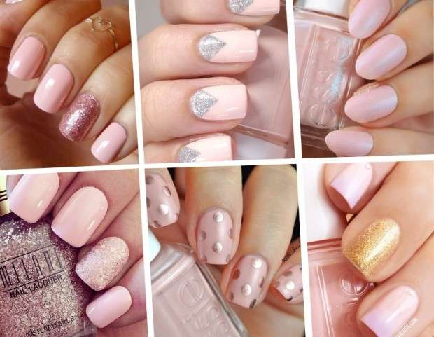 Nail art Rose Quartz