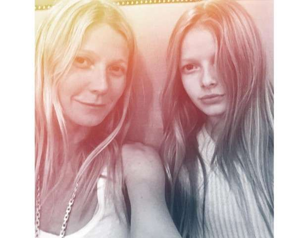 Gwyneth Paltrow con la figlia Apple