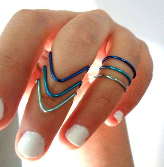 Knuckle ring blu