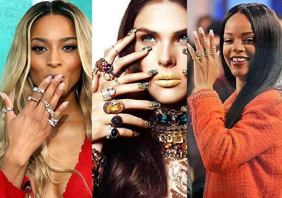 Le celebrities con i knuckle ring
