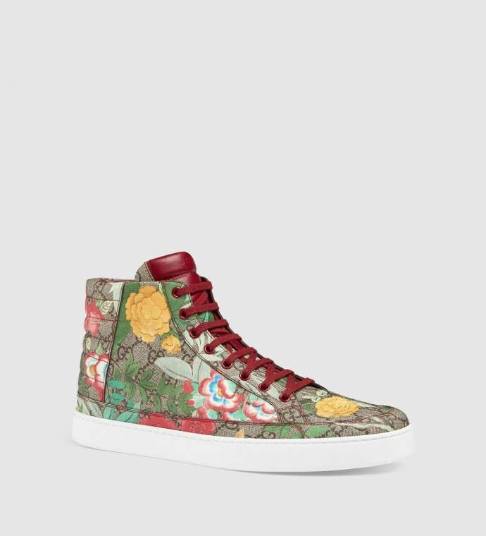 Sneakers Gucci con stampa floreale