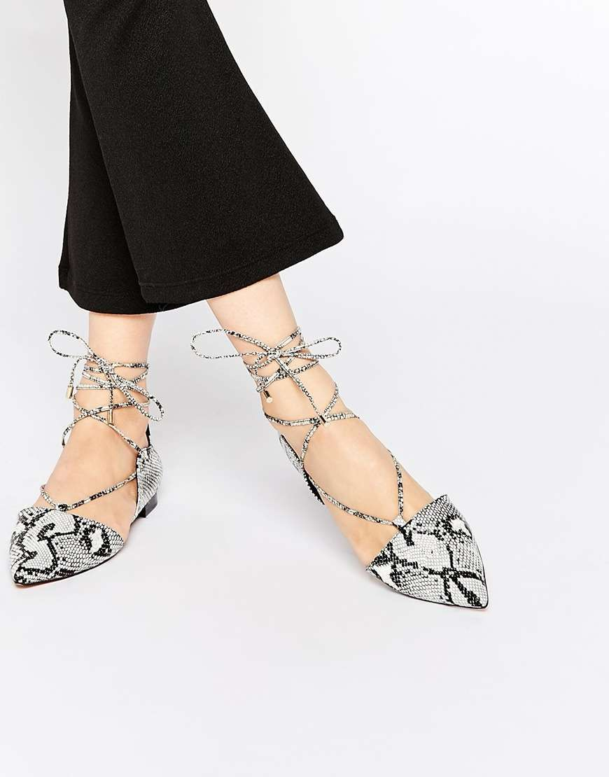 Ballerine lace-up fantasia