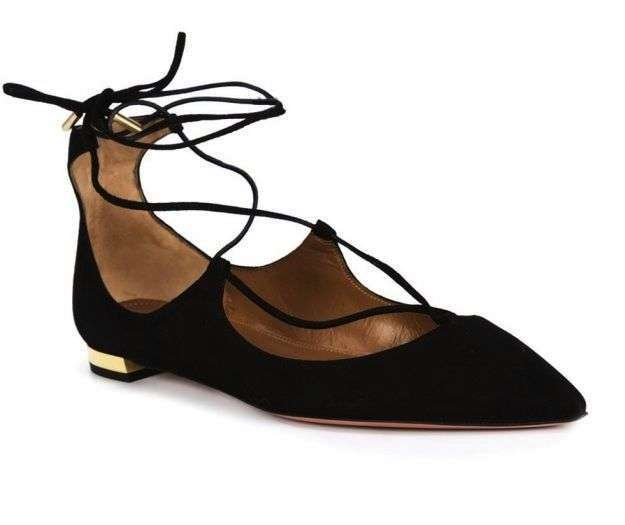 Ballerine lace-up Aquazurra