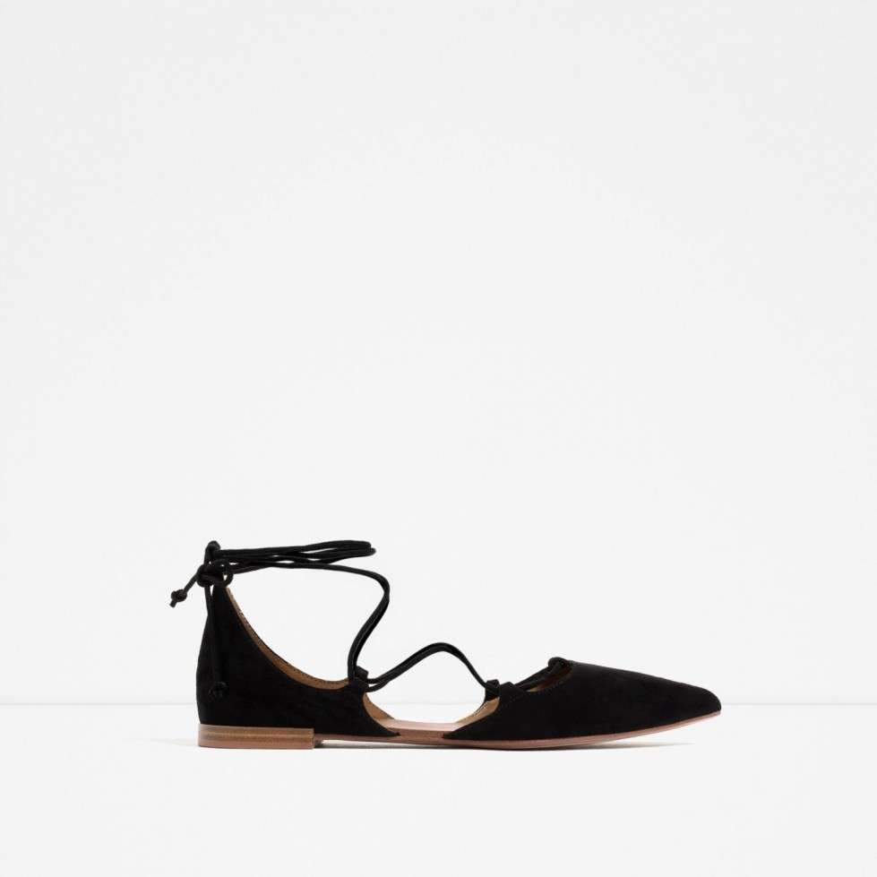 Ballerine lace-up di Zara