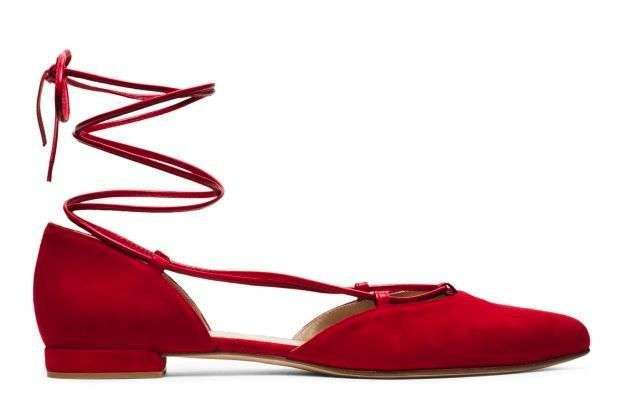 Ballerine rosse lace-up