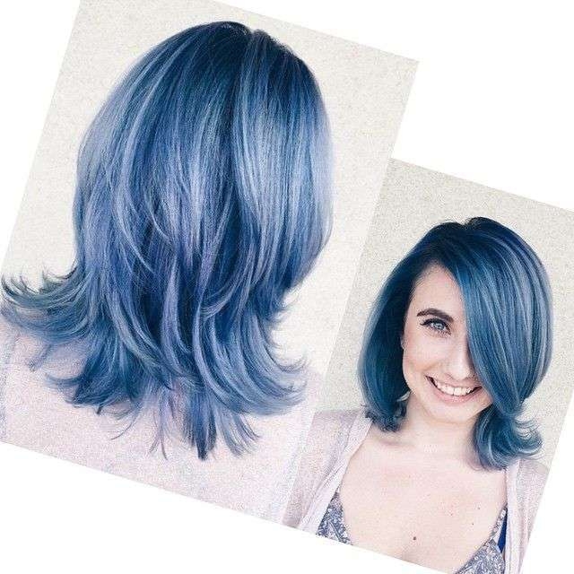Capelli color blue jeans intenso