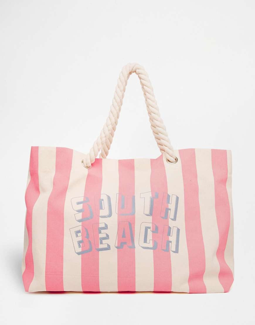 Borsa mare South Beach a righe