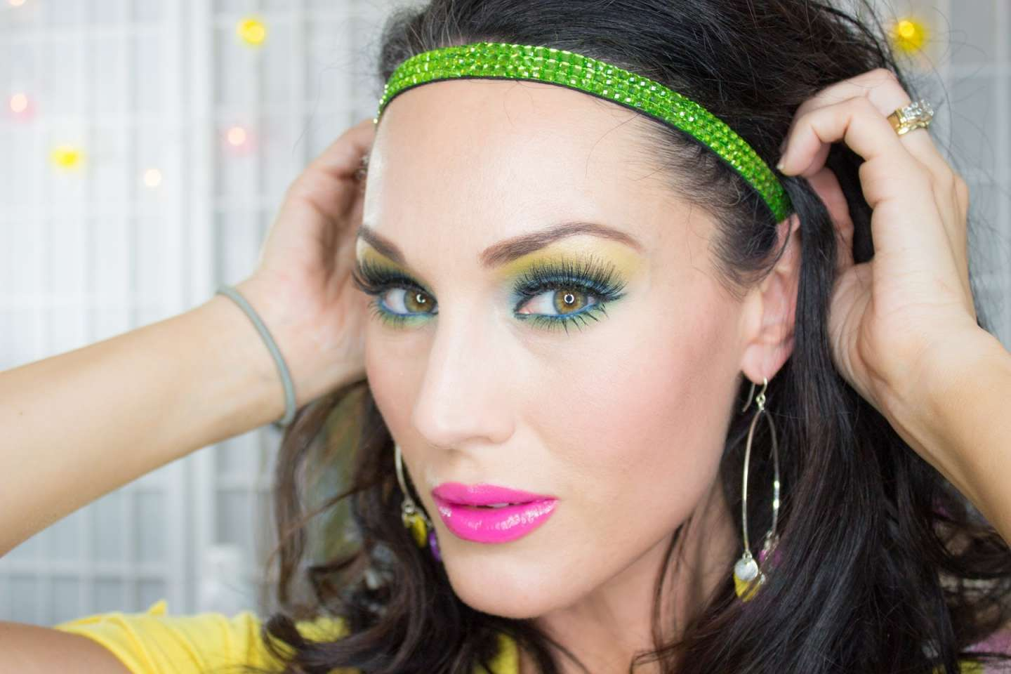 Makeup giallo e verde