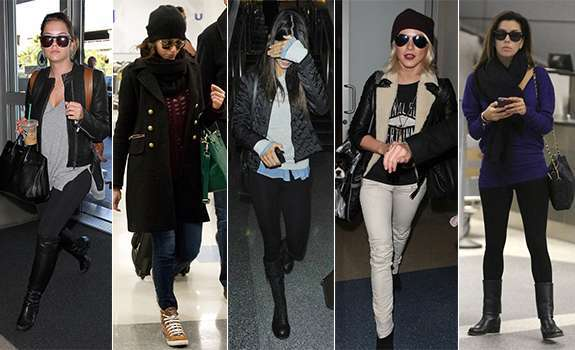 Look casual per le star in aeroporto