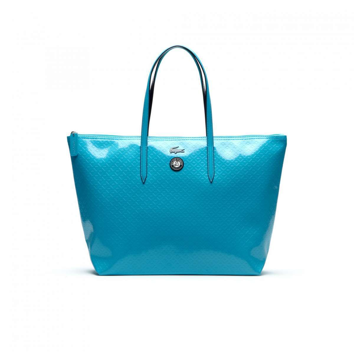 Shopper blu in vernice