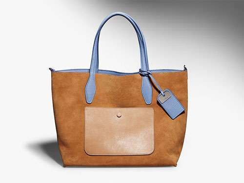 Shopper in nappa marrone