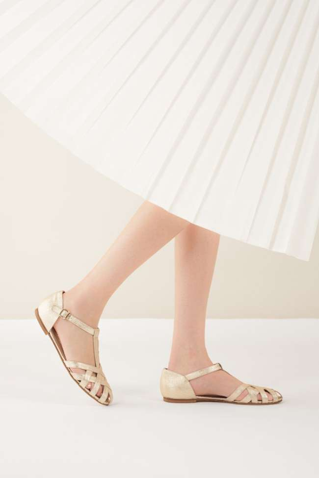 Ballerine color oro
