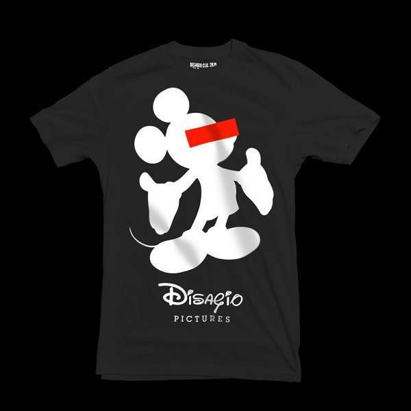 T-shirt con Topolino censurato
