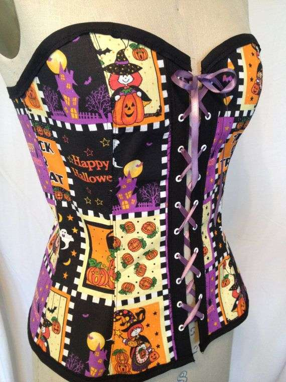 Corpetto patchwork per Halloween