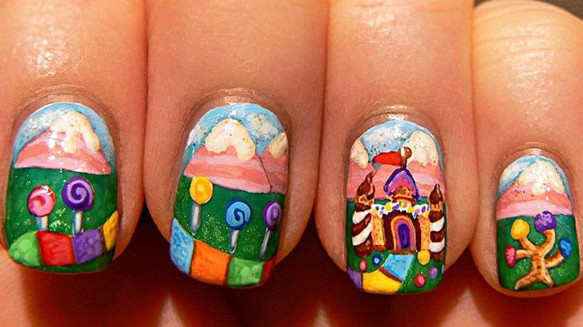 Nail art di Candy Land