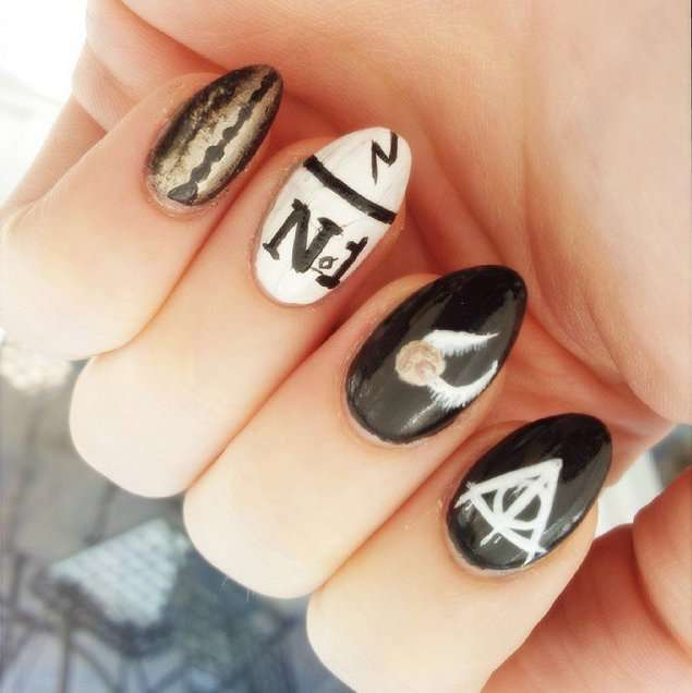 Nail art di Harry Potter