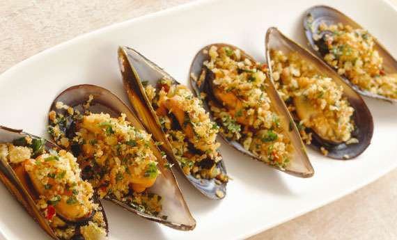 Cozze gratinate all