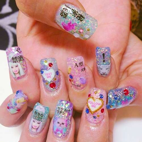 La nail art Kawaii