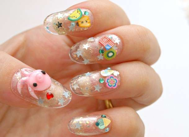 Nail art Kawaii con Octopus