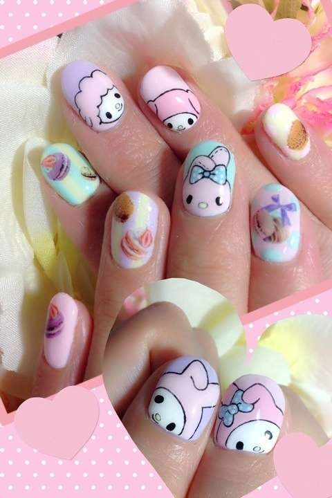 Nail art Kawaii di Melody