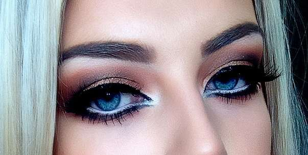 Smokey eyes color  bronzo