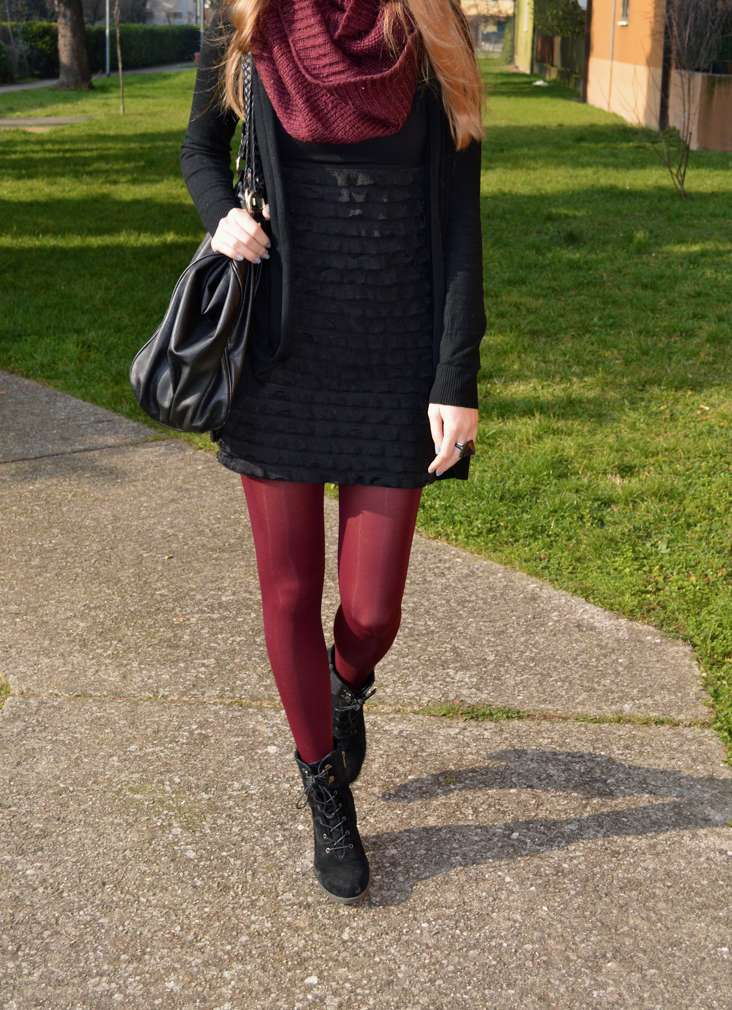 Collant bordeaux per l'inverno 2016