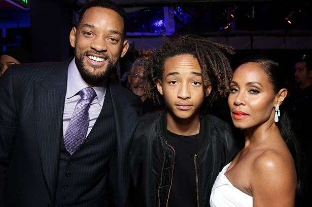 Jaden Smith con Will e Jada