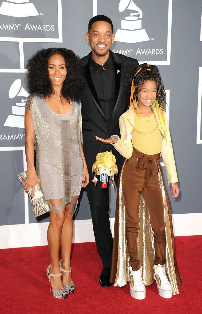 Willow Smith con i genitori Jada e Will